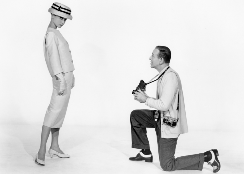 1957: Wearing Givenchy in 'Funny Face'