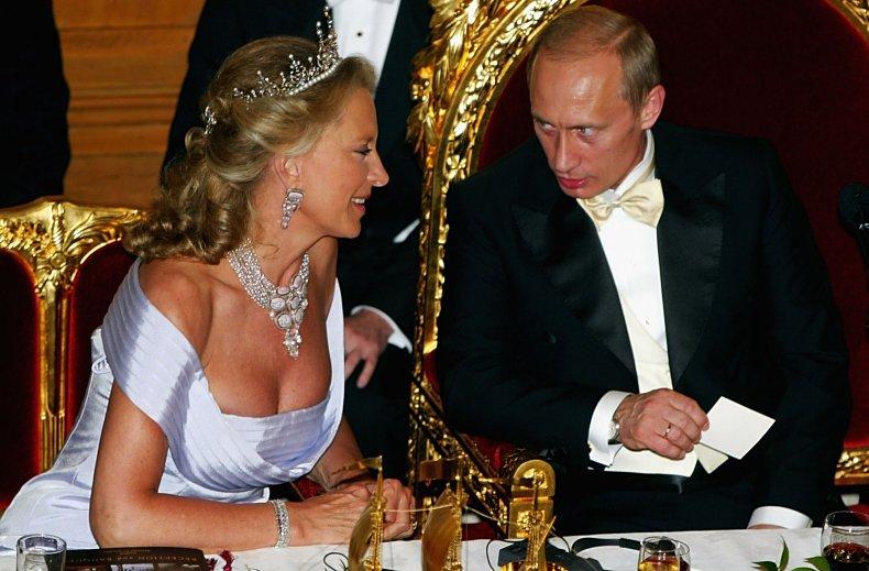 Vladimir Putin and Princess Michael of Kent