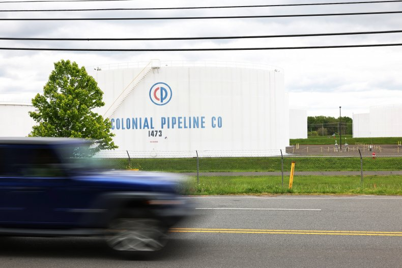 Colonia Pipeline's fuel holding tanks