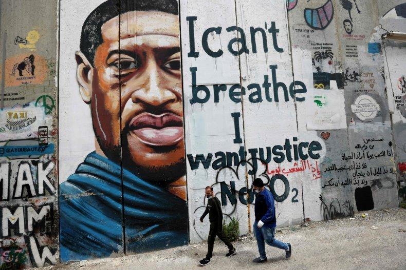 George Floyd mural in West Bank
