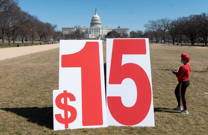 Sign Calling for a $15 Minimum Wage