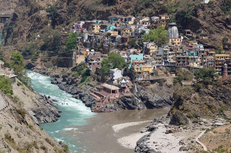 India Landslide Rainfall Building Collapse Ganges