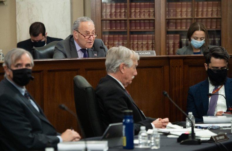US Senate Majority Leader Chuck Schumer