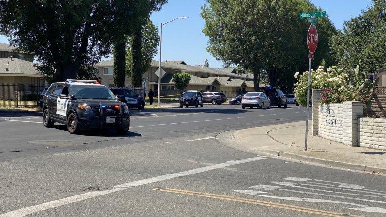 Stockton California Police Shooting Patrol Car