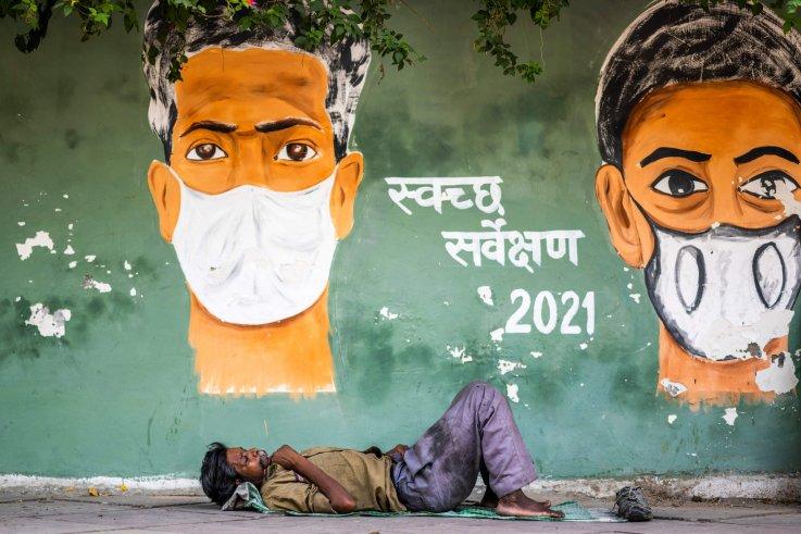 India coronavirus mural