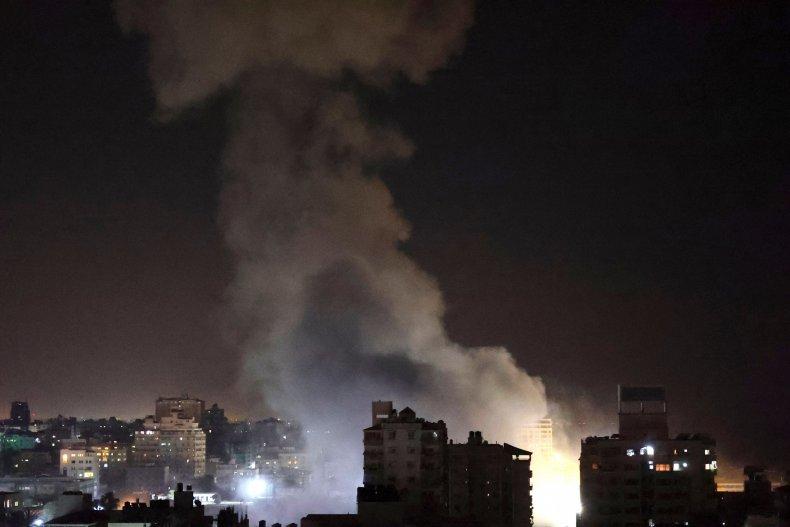 IDF air strikes in Gaza City on