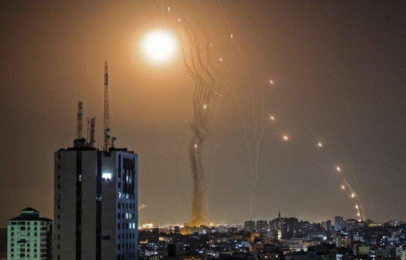 Israel's Iron Dome defense system intercepts Hamas-launchedrockets