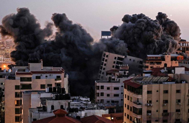 israel, strike, gaza, building, hamas