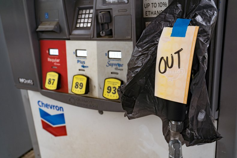 Gas stations run out of gasoline