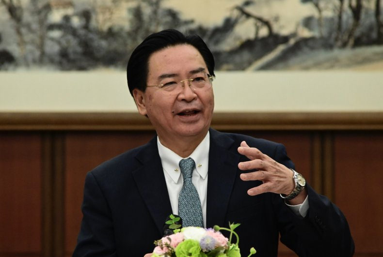 Taiwan Foreign Minister Addresses Press