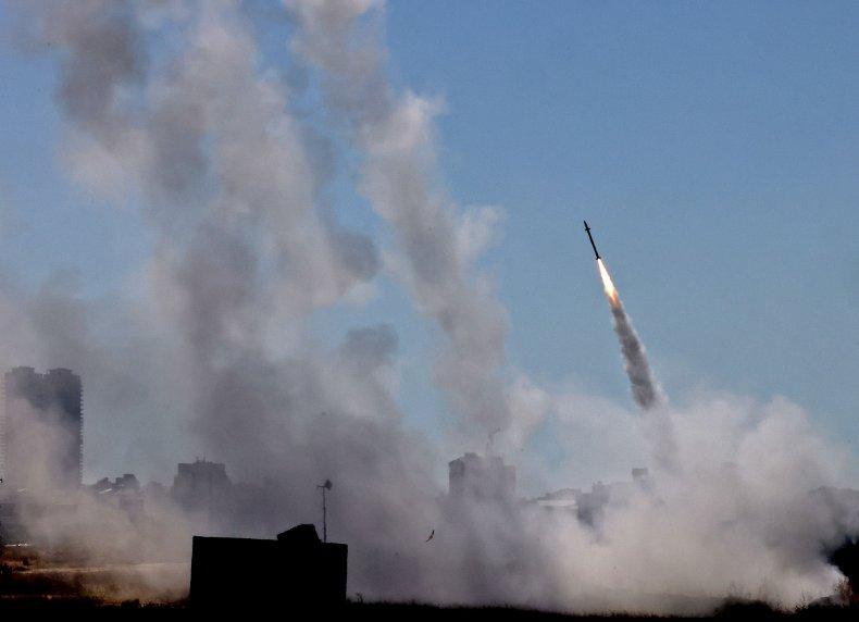 Israel Airstrike Iron Dome