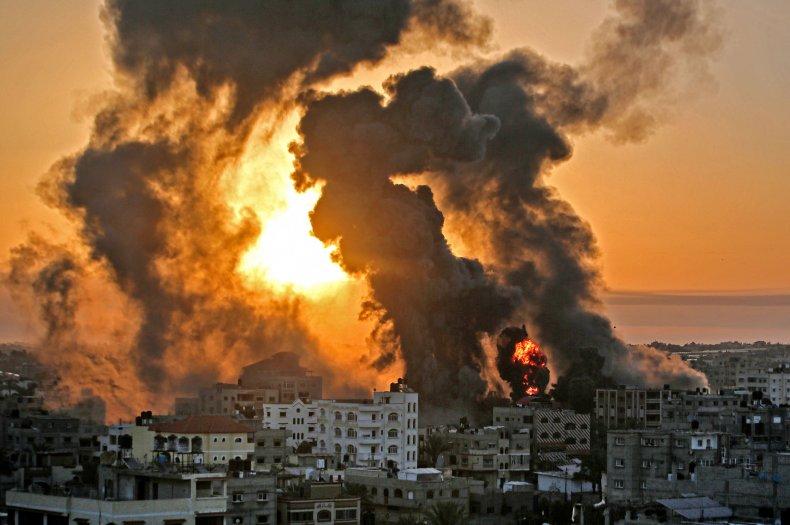 Gaza Strip airstrike aftermath Israel-Palestine violence