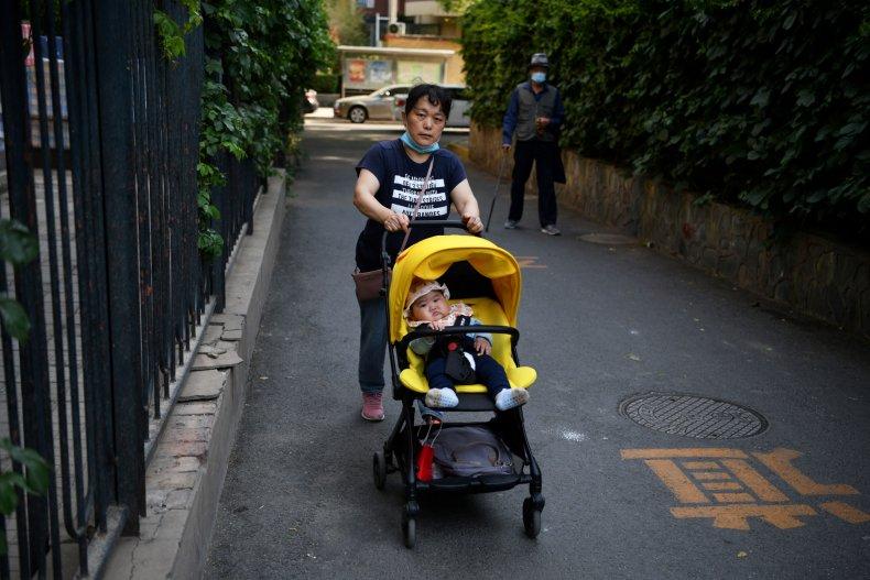 Baby On a Stroller in Beijing