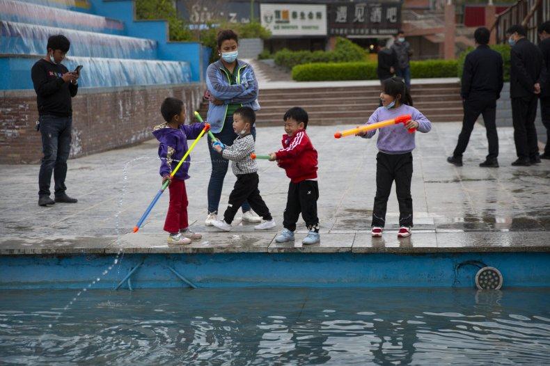 Children Play in Xinjiang