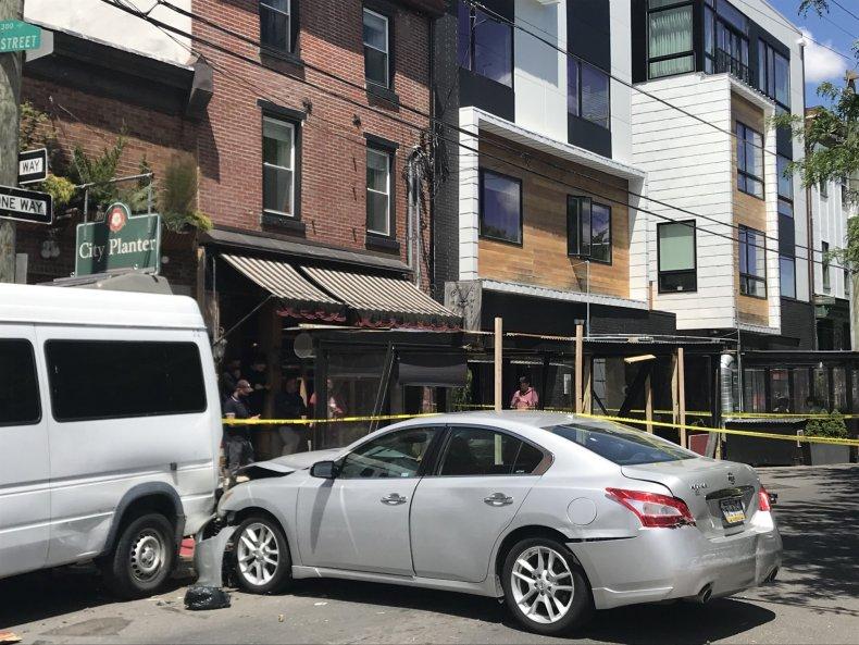 Car Plow Restaurant Outdoor Dining Injured Stretchers