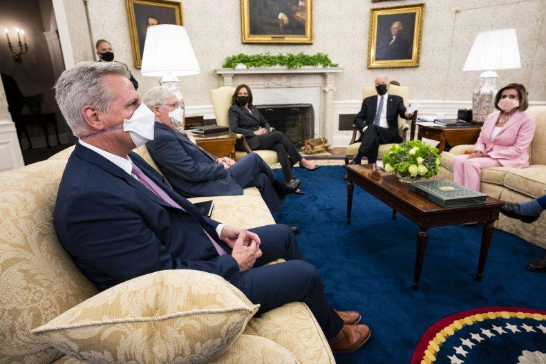 Biden meets McConnell, McCarthy, Pelosi, Schumer
