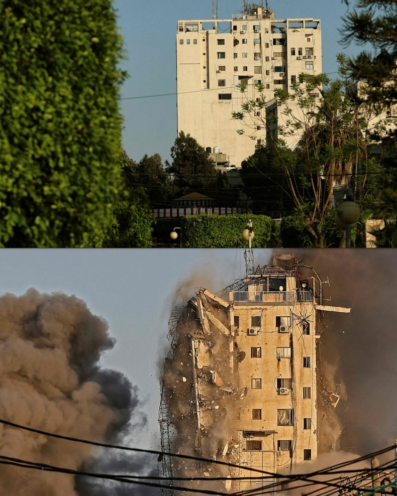 israel, airstrike, building, gaza, hamas