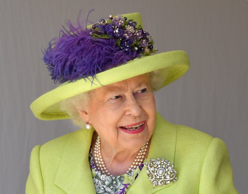 Queen at Prince Harry and Meghan's Wedding