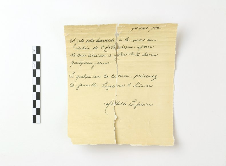 Letter from Titanic