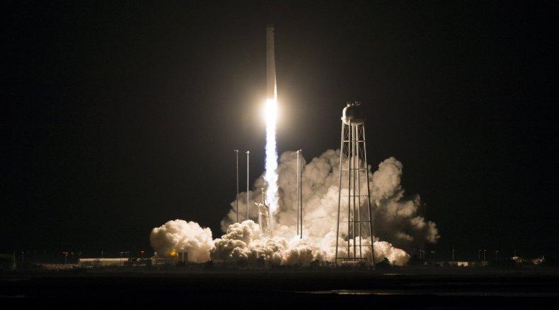nasa rocket launch wallops facility, getty