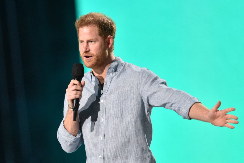 Prince Harry at the Vax Live Concert