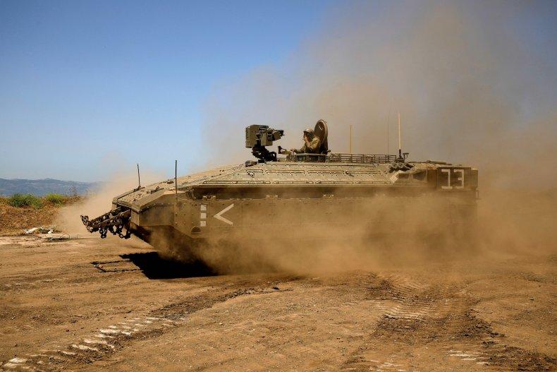 IDF tank on May 11, 2021