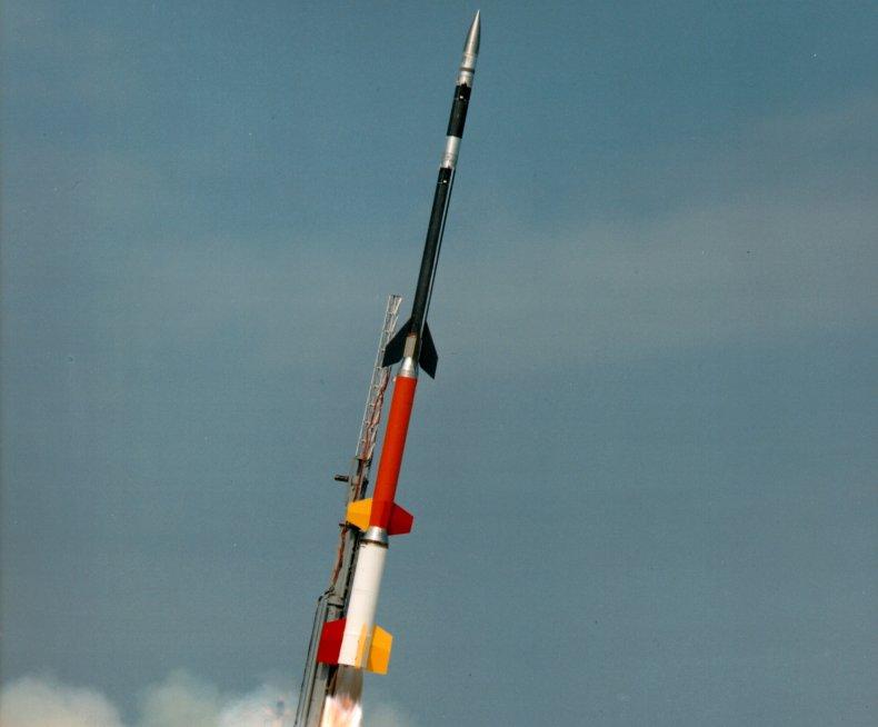 A four-stage Black Brant XII rocket