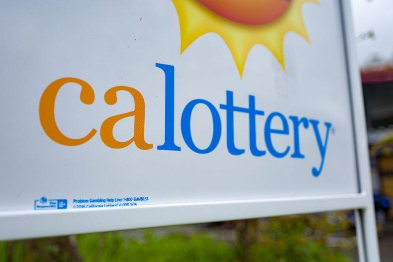 California Lottery sign