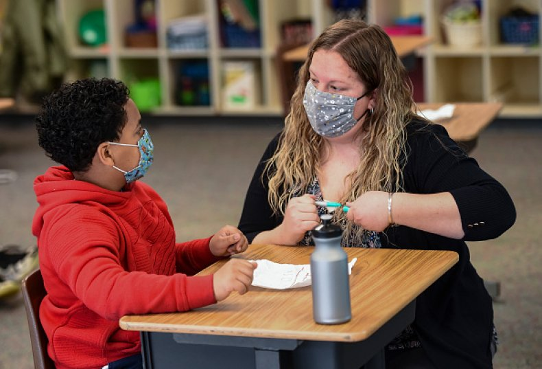 Teachers Union Schools Children Masks Indoors CDC