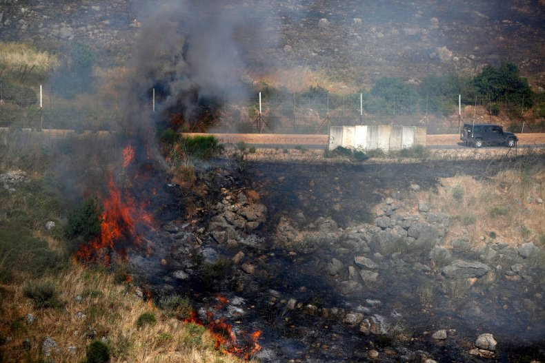 Lebanon, Israel, border, fire, protests