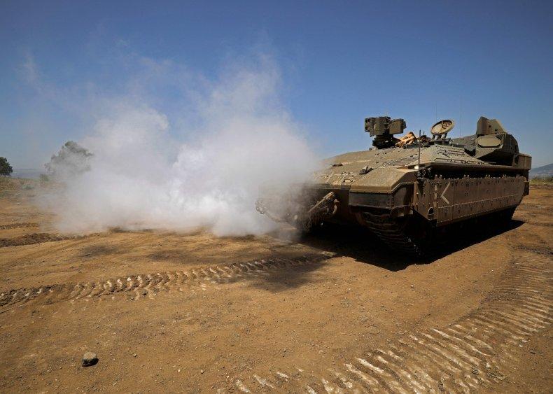 israel, tank, golan, heights, syria