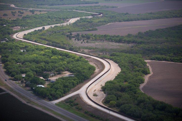 Levee system in McAllen, Texas
