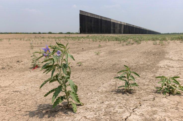 Border wall in La Joya, Texas