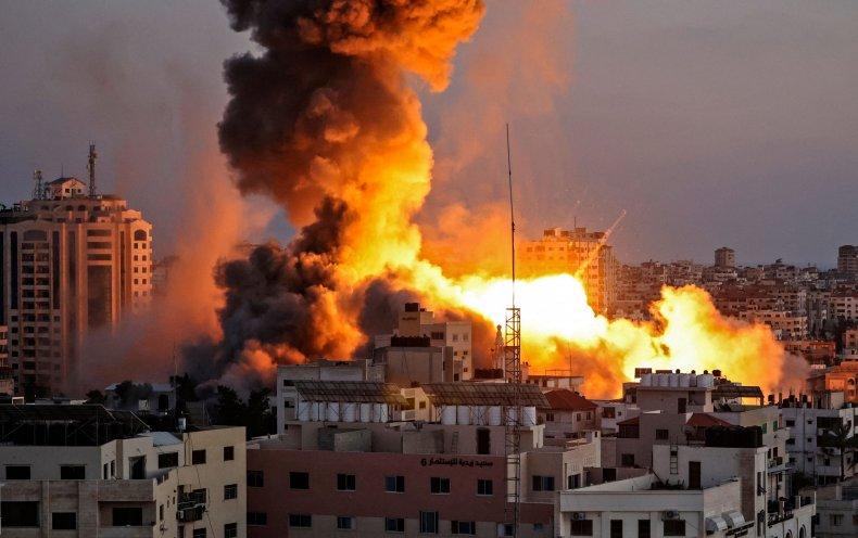 gaza, airstrike, israel, palestinian, conflict
