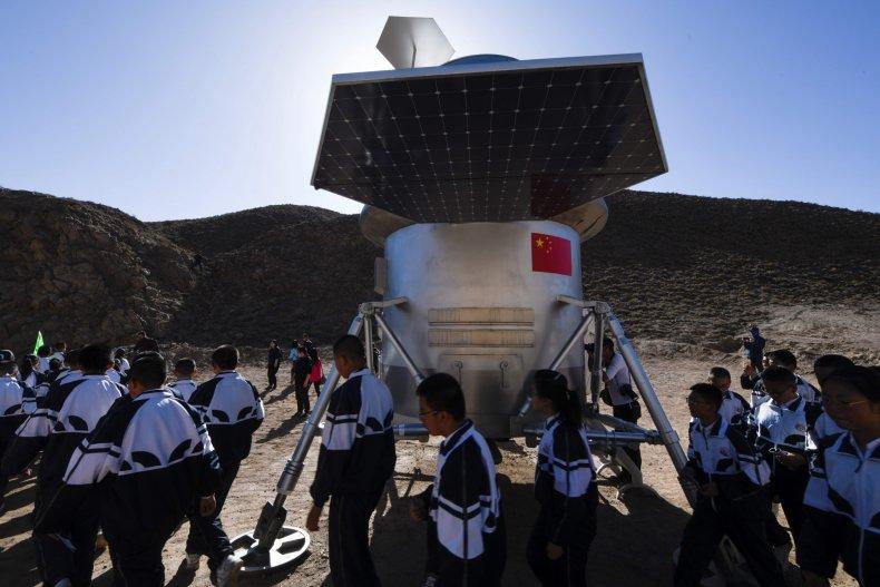 China mars landing rover first spacecraft U.S.
