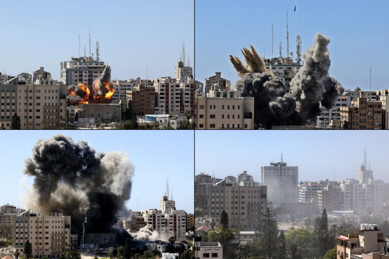 al-jalaa, tower, gaza, media, israel, bombing