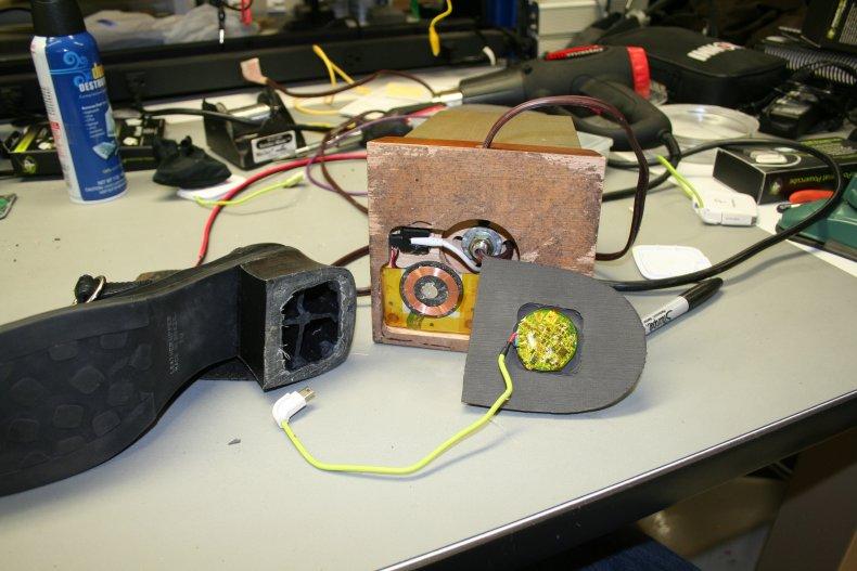 spycraft listening device embedded in shoe
