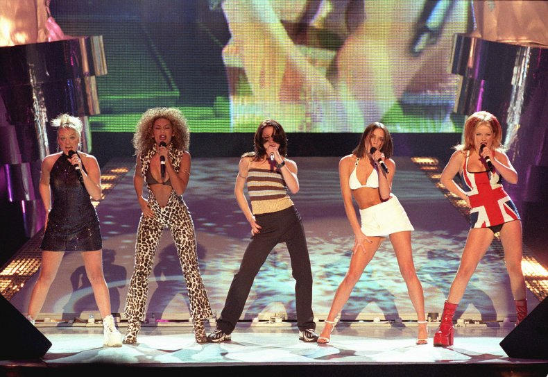 Spice Girls at 1997 Brit Awards