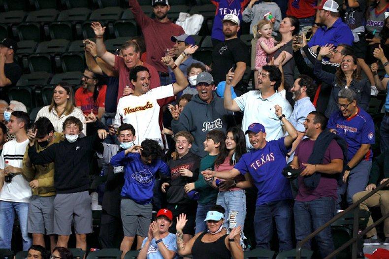 Texas Rangers Baseball Fans