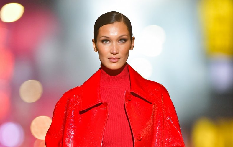 Bella Hadid attended a pro-Palestine march