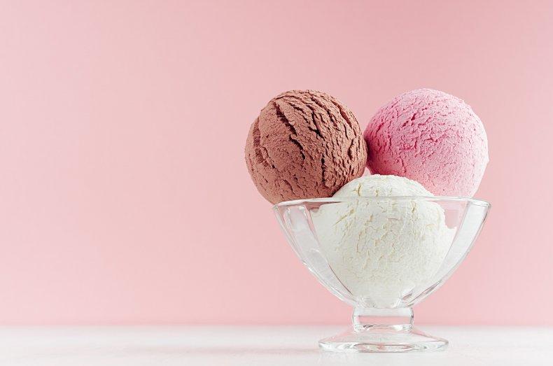 ice cream scoops in bowl
