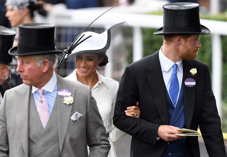 Prince Charles, Prince Harry and Meghan Markle