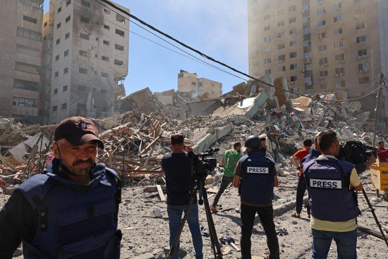 Israel Airstrike News Building
