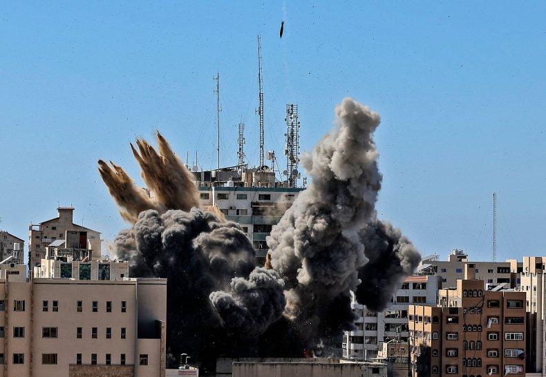 israel, bomb, al-jalaa, tower, gaza