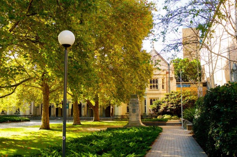 University campus in 2015
