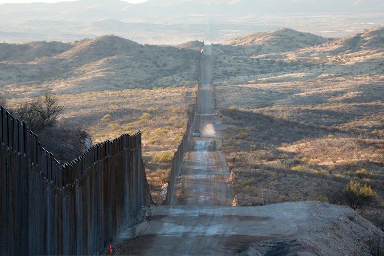 U.S.-Mexico border wall in Arizona in January