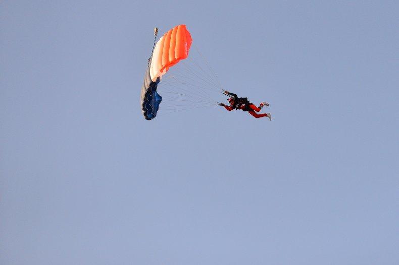 Skydiver in Denver, Colorado, 2018