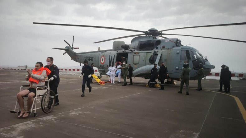 Indian Navy Rescues After Cyclone Has