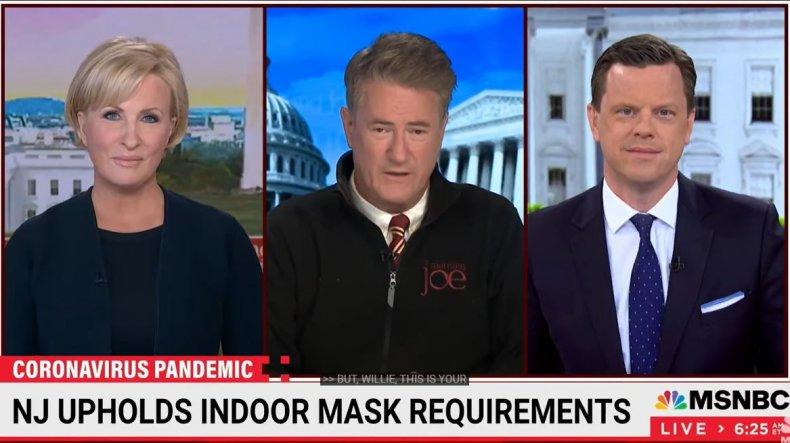 joe scarborough msnbc host mask