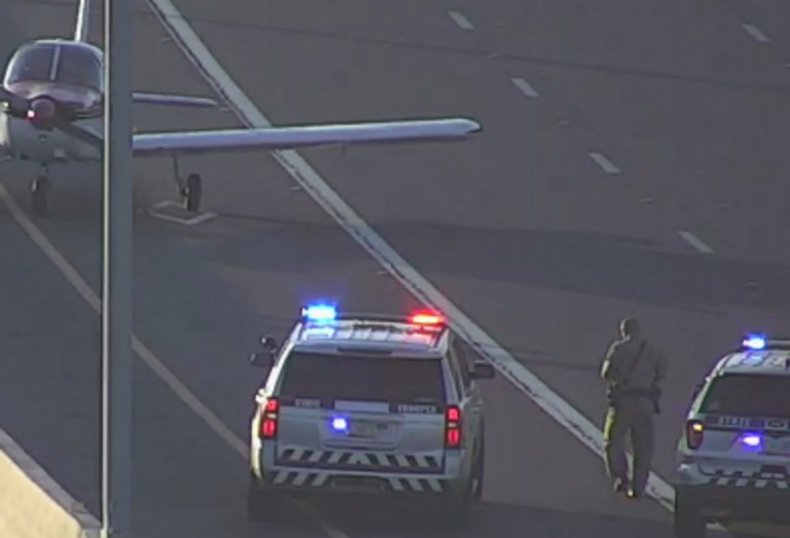 A plane having landed on the Loop202